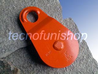 Carrucola forestale apribile kg 5000 fune mm 14 piastre scorrevoli