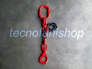 Braca catena 1 braccio regolabile campanella gancio self locking girevole grado 80