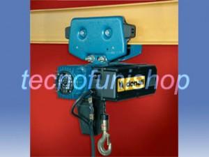 Paranco elettrico a catena con carrello a spinta