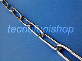 Catena in acciaio inox - Catena DIN 763 passo lungo - Catena DIN 5685 C maglia lunga