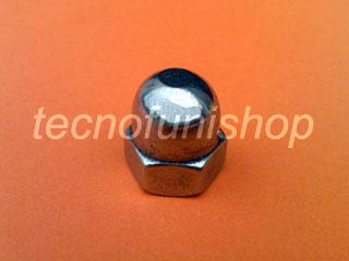 Dado cieco bombato in acciaio inox - Dado DIN 1587 inox - Dado esagonale cieco con calotta sferica