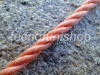 Corda polipropilene 3 legnoli - Cima polipropilene 3 lignoli - Fune tessile sintetica