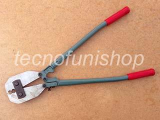 Pinza per impiombature di cavi di acciaio