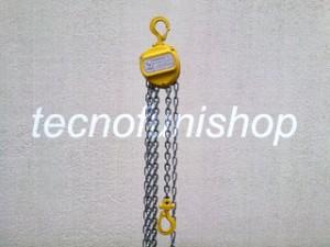Paranco manuale a catena ton 0,5 - ton 1 - ton 2