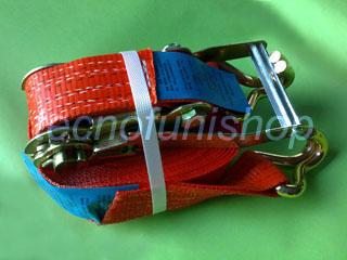 Cricchetto di ancoraggio in poliestere 50mm  9,5mt ganci uncino