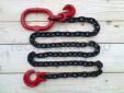 Catena forestale choker regolabile con gancio scorsoio e anello ovale - maglia tonda acciaio grado 80