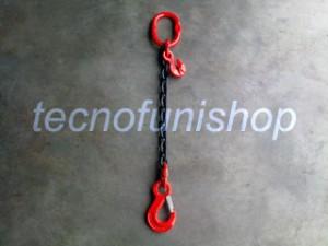 Tirante catena 1 braccio regolabile campanella gancio sling occhio grado 80