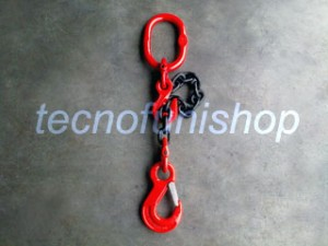 Braca catena 1 braccio regolabile campanella gancio sling occhio grado 80