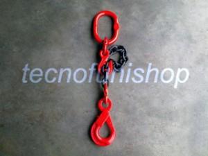 Braca catena 1 braccio regolabile campanella gancio self locking occhio grado 80
