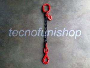 Tirante catena 1 braccio regolabile campanella gancio self locking girevole grado 80