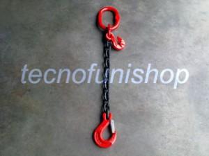 Tirante catena 1 braccio regolabile campanella gancio sling forcella grado 80
