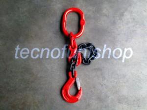 Braca catena 1 braccio regolabile campanella gancio sling forcella grado 80