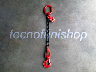Tirante catena 1 braccio regolabile campanella gancio girevole grado 80