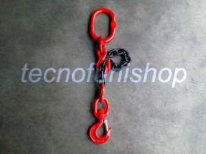 Braca catena 1 braccio regolabile campanella gancio girevole grado 80