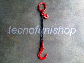 Tirante catena regolabile 1 braccio mm  8 mt 4 campanella gancio fonderia gr 80