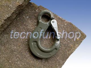 Gancio sling ad occhio in acciaio legato grado 100 con sicurezza - Gancio sollevamento