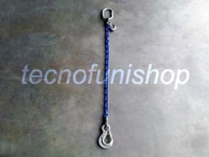 Tirante catena 1 braccio regolabile campanella gancio sling occhio grado 100