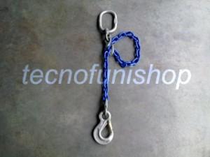 Braca catena 1 braccio regolabile campanella gancio sling occhio grado 100