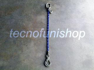 Tirante catena regolabile 1 braccio mm  8 mt 6 campanella gancio self locking occhio gr100