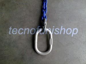 Catena sollevamento 1 braccio con campanella ovale grado 100