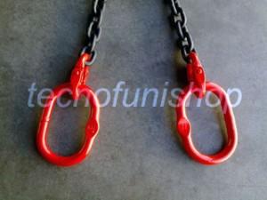 Catena sollevamento 2 bracci con campanelle ovali grado 80