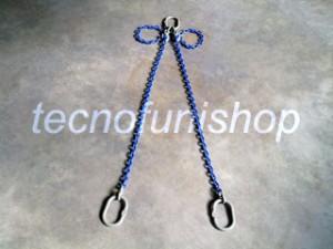 Braca catena 2 bracci regolabile campanella superiore campanelle inferiori grado 100
