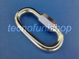 Maglia rapida acciaio inox AISI 316 mm 12 x 100