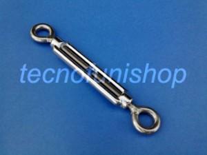 Tenditore in acciaio inox a due occhi a cassa aperta - Tenditore inox per funi e cavi metallici