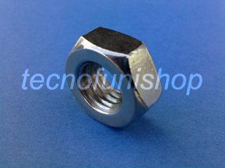 Dado esagonale DIN 934 M 6 acciaio inox AISI 316 filetto destro
