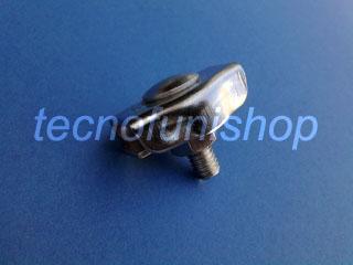 Morsetto simplex in acciaio inox AISI 316 per fune metallica 2mm