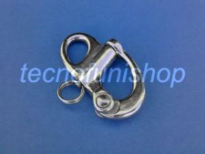 Moschettone a sgancio rapido in acciaio inox AISI 316 con occhio fisso