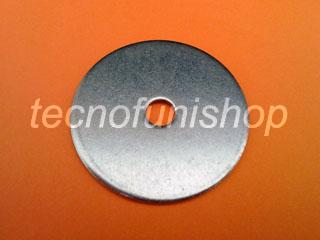 Rondella piana larga foro M 8 acciaio inox AISI 316 diametro 45mm