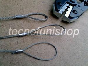 Pinza impiombature funi e cavi acciaio - Art PCM001
