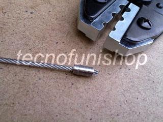 PCM001 Pinza pressacavo manuale – Pinza pressa manuale per crimpare e piombare cavi acciaio mm 1 – 2,5