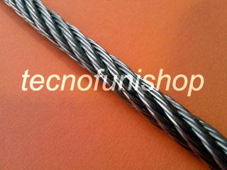 Fune acciaio inox AISI 316 tipo 7×7 49 fili diametro 1 mm