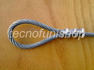 PCM002.045 Pinza pressacavo professionale per pressare, piombare e crimpare funi acciaio mm 4 – 4,5