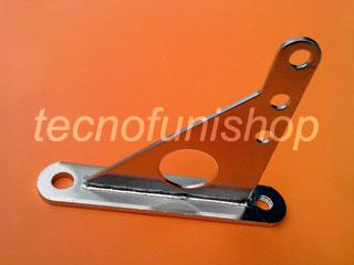 ARC060 Staffa in acciaio inox - Piastra di fissaggio per funi e cavi metallici per architettura e arredamento