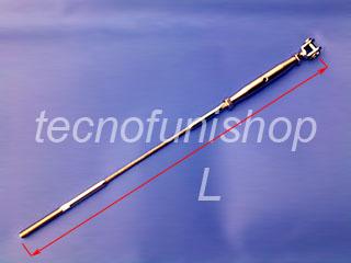 A5 Cavo in acciaio inox per ringhiere - Fune in acciaio inox per architettura con terminale filettato maschio e tenditore a forcella