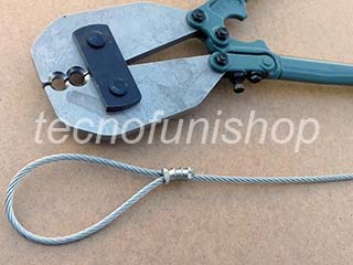 Pinza portatile per piombare occhielli su cavi di acciaio - Pressa per velisti