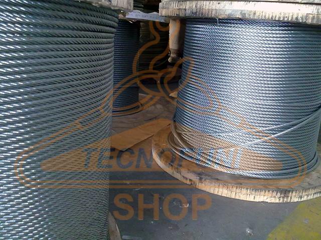 Cavo acciaio zincato 6x36+IWRC