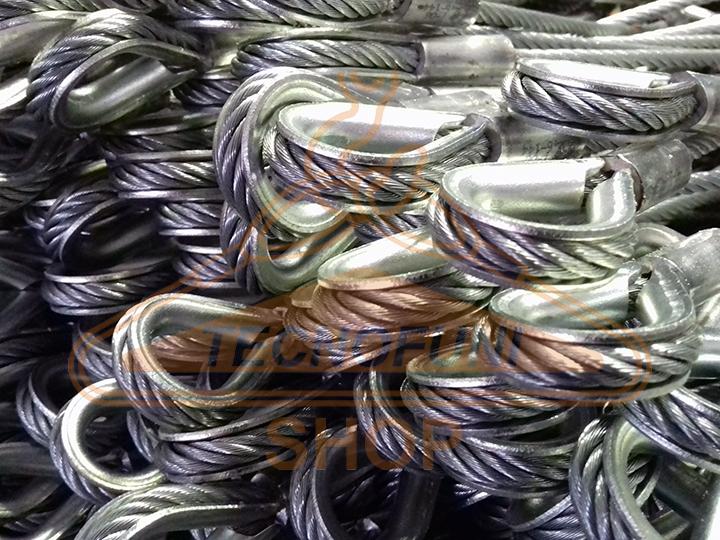 Produzione brache in fune di acciaio zincato con redance