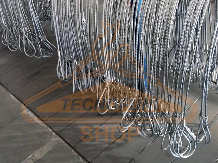 Produzione imbrachi in fune di acciaio zincato