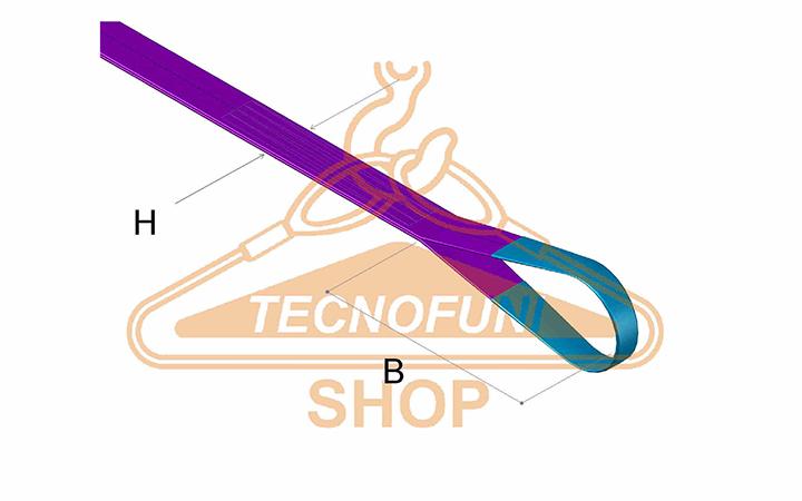 Dimensione asola e larghezza nastro di fascia poliestere doppia viola