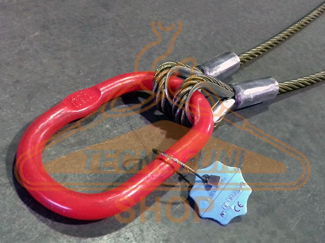 Produzione tiranti a 2 bracci in fune di acciaio con accessori maggiorati