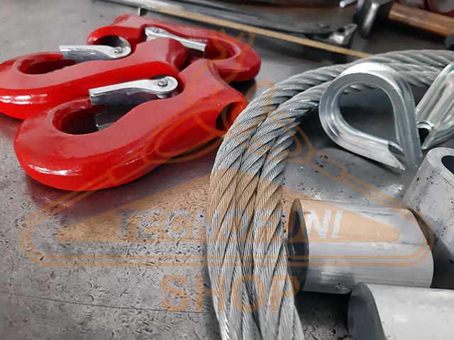 Produzione tiranti scorsoi in fune di acciaio zincato