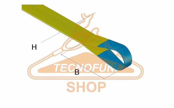 Dimensioni Asola di Cinghia in Nastro Poliestere Giallo ton 3