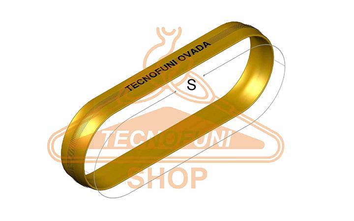 Sviluppo Fune tonda ad anello arancione Portata kg 10000