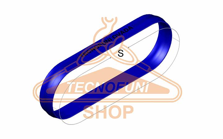 Sviluppo Fune tonda ad anello blu Portata kg 8000