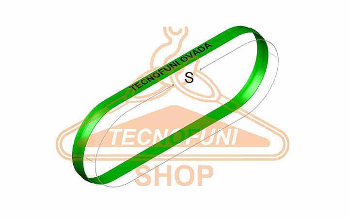 Sviluppo Fune tonda ad anello verde Portata kg 2000