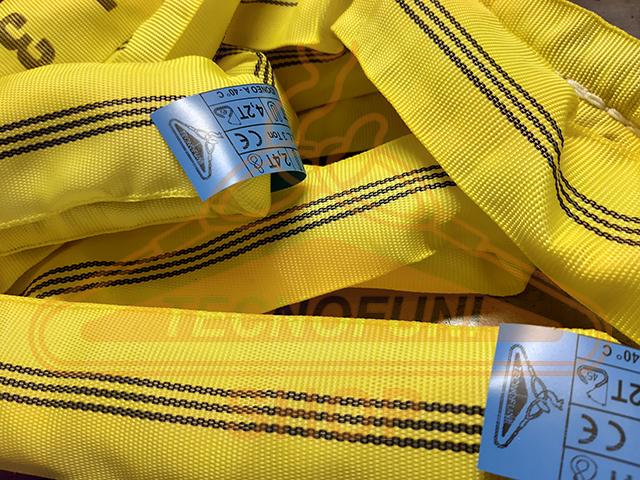 Braca ad anello tubolare gialla Portata kg 3000